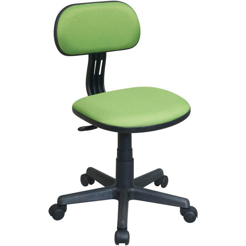 Osp Designs Armless Computer Task Chair With Seat Height Adjustment And Casters Green