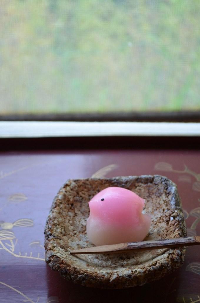 備前礫正方小皿 Takahiro Hosokawa -都鳥ー