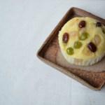備前正方皿 Masahiko Kondo -三色豆の蒸しパン-