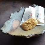 備前葉皿 Takahiro Hosokawa -川通り餅-