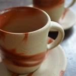 珈琲を美味しく、備前焼の緋襷珈琲セット
