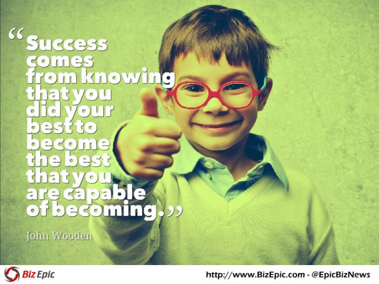 Success quote - John Wooden