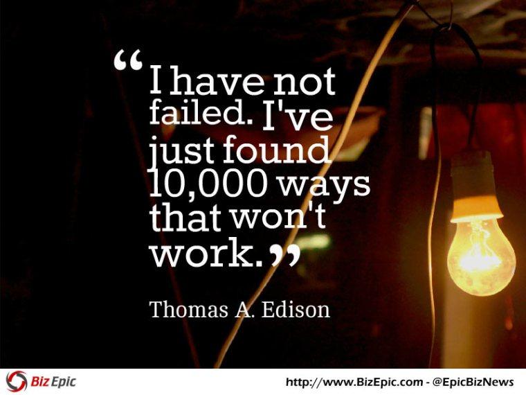 Success quote - Thomas Edison