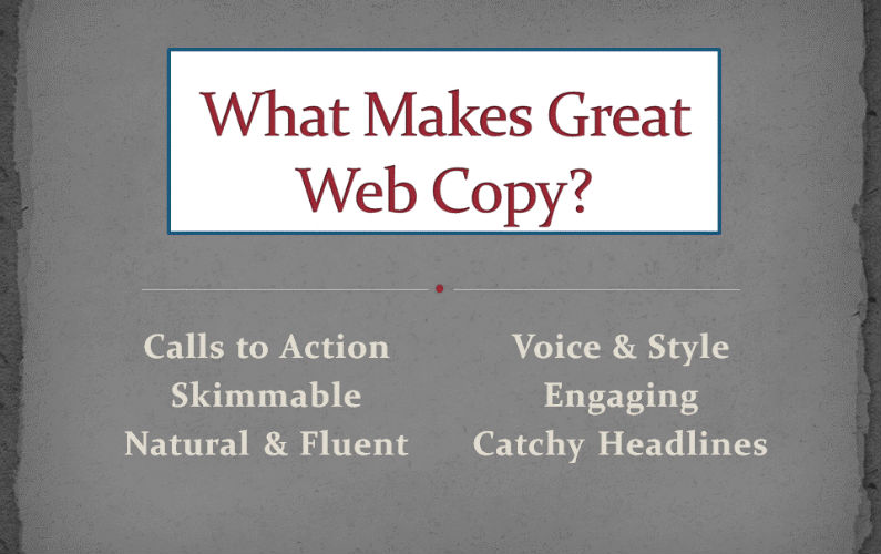 Why Your Web Copy Isn't Selling and How to Fix it Pronto