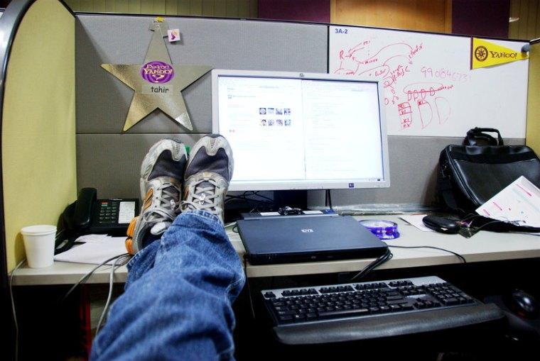 Slacking off at work