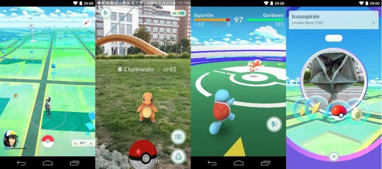Pokemon GO screenshots