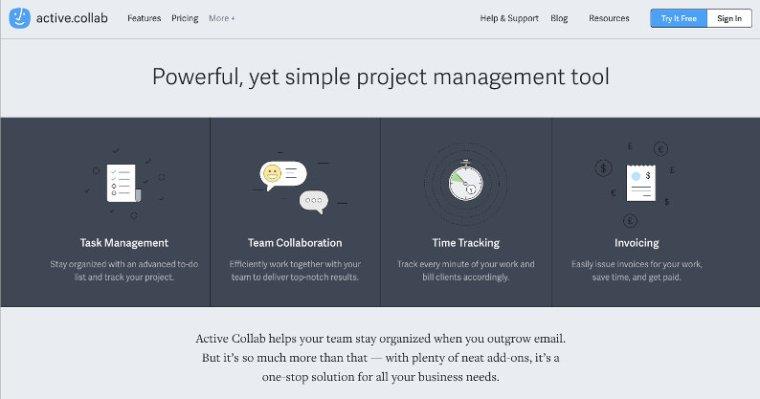 Active.Collab website screenshot