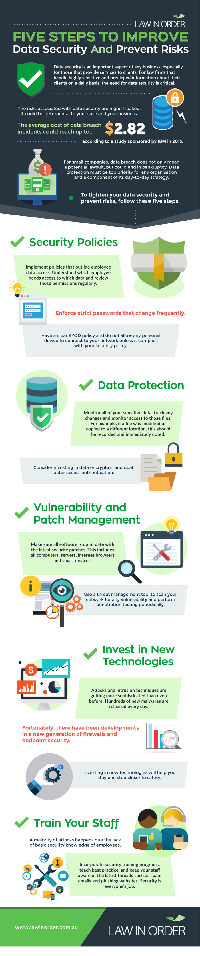 Improving data security - infographic by Law In Order