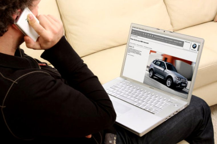 Talk with a car dealer