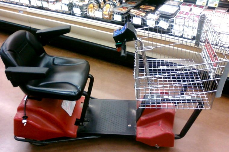 Motorized shopping cart