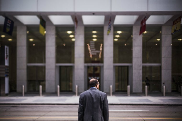 CFO leaving the building