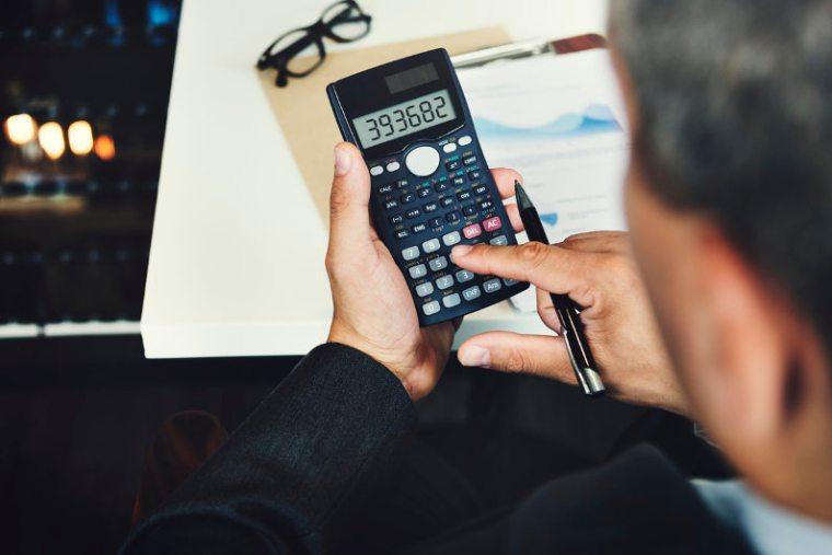Businessman managing expenses