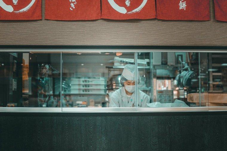 Busy chef in a restaurant kitchen