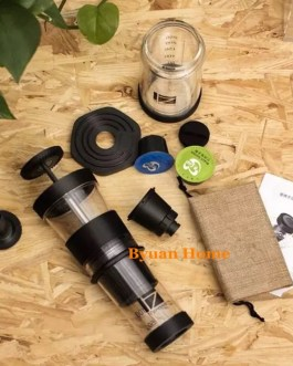 Super mini portable manual espresso capsule coffee maker compatible capsule design Tritan light handle coffee machine cup design