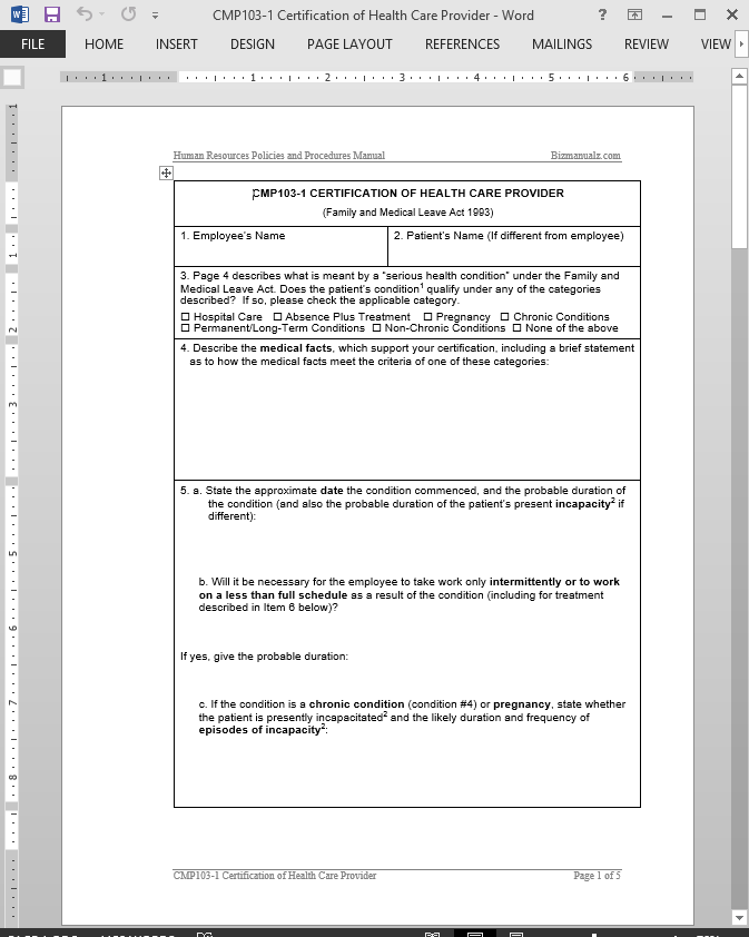 Health Care Provider Certification Approval Template Cmp103 1