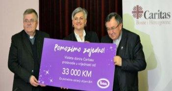 """""""Pomozimo zajedno"""": Violeta donira ukupno 100.000 KM do 10. januara 2018."""
