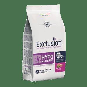 Exclusion hypoallergenic pork and pea medium & large breed da 2 kg