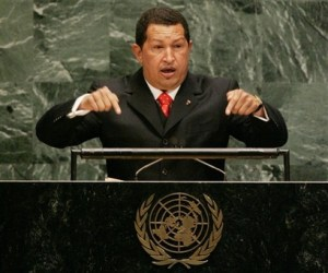 Chavez addressing the UN General Assembly