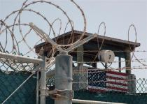 A guard tower is pictured at the Camp Delta detention center for terrorism suspects at Guantanamo Bay