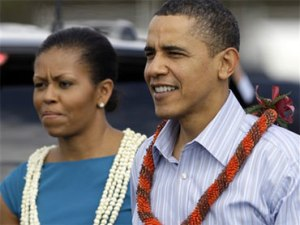 Obamas in Hawaii