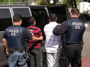 ICE agents making arrest