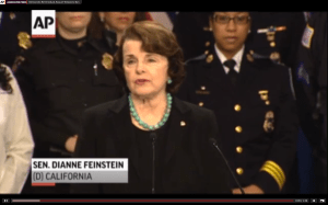Feinstein at press conference