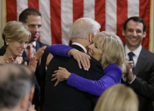 Joe Biden hugging the tree-huggers