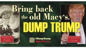 Dump Trump Macys billboard 2012