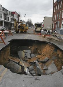 Sinkhole in Harrisburg, PA