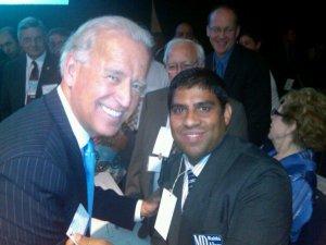 MD Rabbi Alam with Vice President Joe Biden Photo Credit: The Blaze