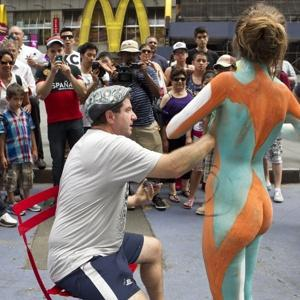 Body painting in Times Square