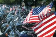 patriotic bikers