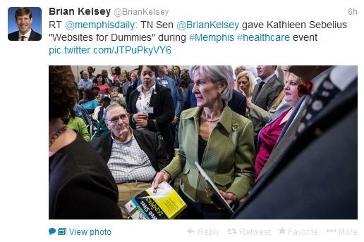 Kathleen Sebelius web sites for dummies tweet