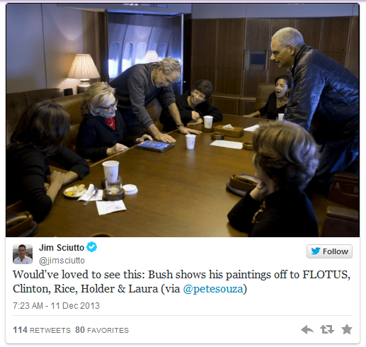 Bush and Obama on Air Force One tweet2