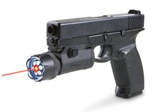 Gun with laser
