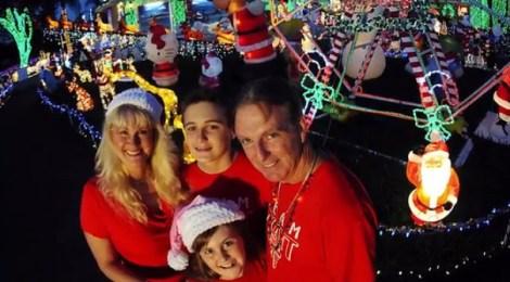 Plantation Christmas lights