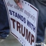 Silent majority Trump sign