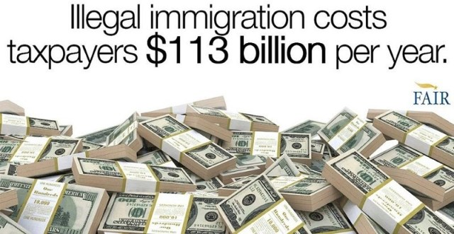 sanctuary cities cost illegal immigration taxpayers