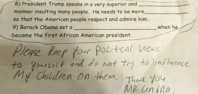 vincent ungro staten island dad slams anti trump homework