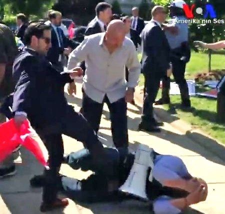 turkish embassy protesters beaten up president erdogan ordered attacks audio video shows