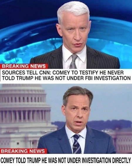 cnn fake news comey testimony