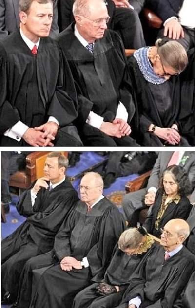 supreme court anthony kennedy retirement ruth bader ginsburg sleeping scotus