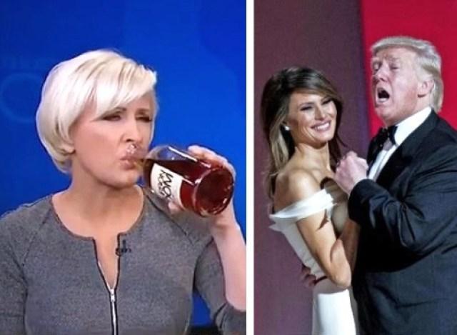 Mika Brzezinski crush president donald trump jealous melania