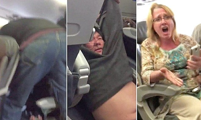 United-Airlines drags passenger