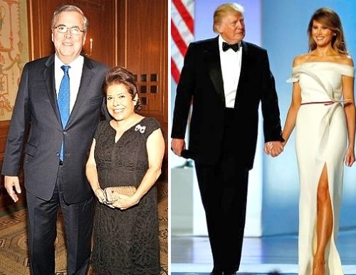 jeb bush wife columba president donald trump melania