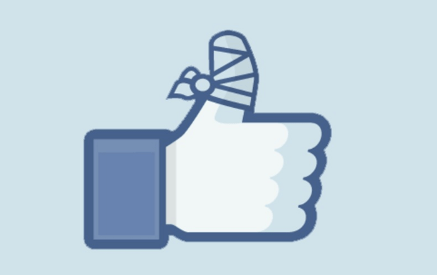 Wiki Commons Facebook Bandaged Thumbsup Like Button - Wikicommons