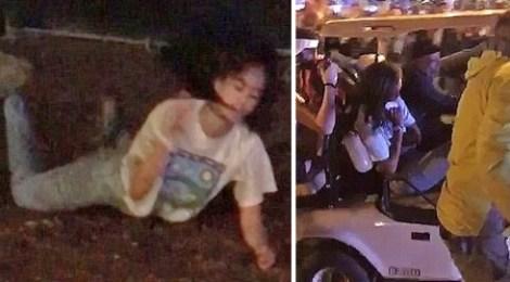 drunk malia obama golf cart Lollapalooza