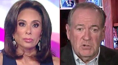 judge jeanine pirro mike huckabee charlottesville obama