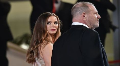 GETTY Harvey Weinstein and his wife US actress Georgina