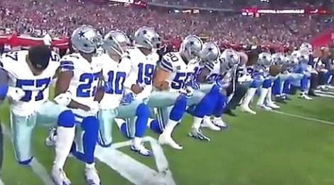 dallas cowboys kneel